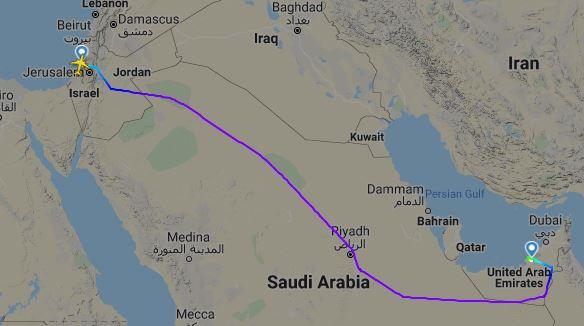 L'Arabia Saudita concede i diritti di sorvolo del suo spazio aereo