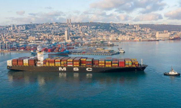 Il primo carico navale da Dubai arriva a Haifa