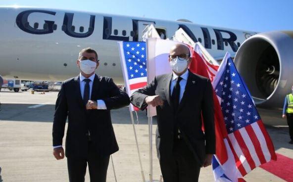 La delegazione del Bahrein arriva in Israele