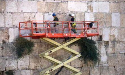 Sottoposte ad ispezione le pietre del Muro Occidentale